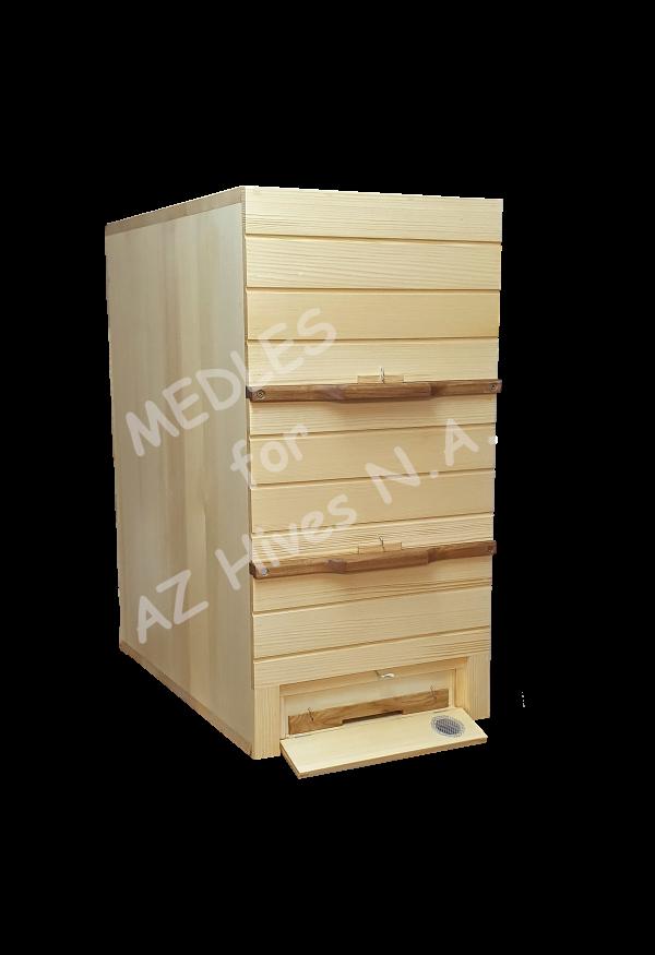 AZ Hive 3 level 10 frame hive front